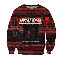 Wholesale Casual New Style Hoodie - Wholesale-New Arrive Style Sweatshirt Crewneck Metal Gear crewneck hoodies Solid Casual Jumper sweatshirts winter sweats