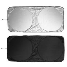 Wholesale Universal Auto Sun Visor - Universal Windshield Cover UV Visor Shade Sun 150*70cm Car Auto Jumbo Front Rear Windows Protection
