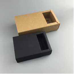 Wholesale Assembly Papers - Paperboard Packaging Truck Paper Box Easy Assembly Black Kraft Handmade Gift Packing Box 6.5*6.5*3cm