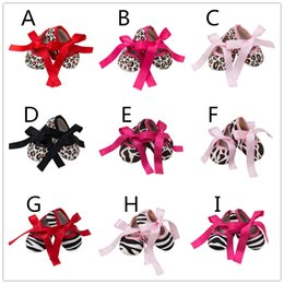 Wholesale Fabric Baby Shoes Pattern - Baby girls ribbon bowknot lace-up shoes floral leopord zebra deer pattern toddlers first walkers for 0-2T anti-slip cute toddlers shoes