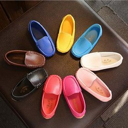 Wholesale Baby Shoes For Toddlers - 9 colors Children Shoes Boys Girls PU Leather Shoes Soft Sole Baby Toddlers Single Shoes Kids fashion Sneakers For 1-6Years