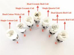 Wholesale Metal Coil For Glass Globe - Quartz Dual Wax Coil glass globe atomizer Dry Herb Vaporizer Dual Ceramic Rod coils head for E-Cigarette Metal Wax glass globe bulb atomizer