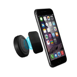 Wholesale Mobile Phone Holder Stand Rubber - Magnetic Car Holder Vent Universal Flat Stick Phone Mounts With Rubber Oil Powerful Magnet 8.8mm Thin Stand For Mobile GPS Devices Driving