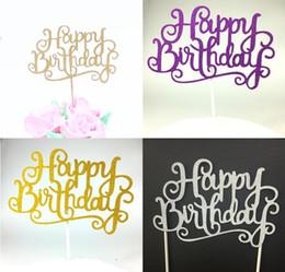 Canada Gros- 1 pc Creative Gâteau Drapeau Topper Joyeux Anniversaire Drapeaux Un Seul Bâton Pour La Fête D'anniversaire De Famille Gâteau De Cuisson Décoration Fournitures Offre