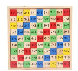 Wholesale Wood High Table - The new high - quality wood multiplication table children 's puzzle multi - purpose color wood toys 99 puzzle