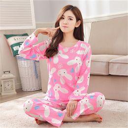 Wholesale Cute Red Sleepwear - Wholesale- Womens Pajamas Carton Women Pajamas Set Cloth for Women Homewear Indoor Clothing Lady lovely Cute pijamas for women's Sleepwear