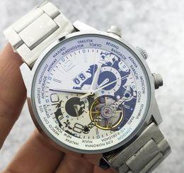 Wholesale Classic Tourbillon - New Natural leather Wrist Watch Men Top Brand Luxury Male Famous Clock Automatic Menchanical Watches Calendar Date Tourbillon Watch Classic