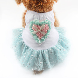 Wholesale Love Roses Clothing - armipet Rose Love Decoration Refreshing Dog Dresses Sling Dogs Princess Dress 6071049 Puppy Clothes Skirt Supplies