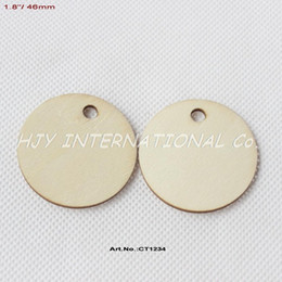 Wholesale Wooden Key Chain Blanks - Wholesale- (70pcs lot) 46mm One Hole Blank Unfinished Wooden Circle Key Chain Wood Disc Supplies 1.8 inches-CT1234