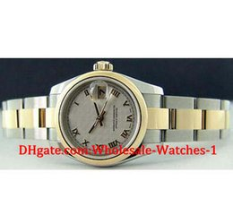 Wholesale Cream Tags - New arrive Luxury watches free gift box Wrist watch Ladies 18kt Gold Stainless Cream Pyramid 179163