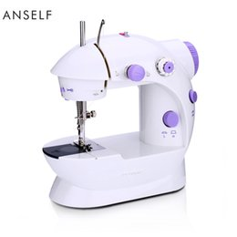 Wholesale Anself Mini Household Purple Electric Sewing Machine Speed Adjustment with Light Foot Pedal AC100 V H16669X