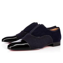 Wholesale alpha leather - Original Box Fashion Red Bottom Shoes Alpha Male Oxford Shoes Mens Womens Walking Flats Wedding Party Loafers Shoes 35-46