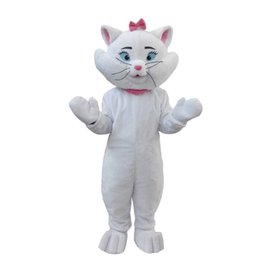 Wholesale Cat Mascot Costume Fancy Dress - OISK Cartoon Marie Cat Mascot Costume Adult Kid Plush for Activites Promotion Performance Play and Party Halloween Animal Fancy Dress Suit