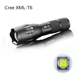 Wholesale Dive Torch T6 Cree - G700 E17 CREE XML T6 3800lm High Power LED Torches Zoomable Tactical LED Flashlights torch with 18650 battery charger US02