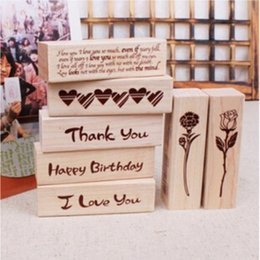 Wholesale Cat House Diy - Wholesale- DIY Cute Kawaii Cat House Stamp Wood I Love You Thank You Eose Stamps for Decoration Scrapbooking Stationery Free shipping 10004