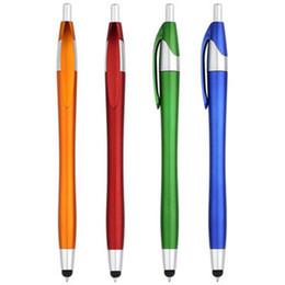 New10 Piezas Pluma de Capacitancia Teléfono Móvil Pantalla Táctil Stylus Pintura Pluma Escritura Bolígrafos 2 en 1 Papelería Útil Papelería Escolar desde fabricantes