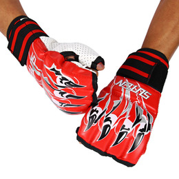 Wholesale Sports Protective Fitness Glove - SUTEN 3 Colors 1 Pair Leather Half Finger Sport Fitness Boxing Sandbag Glove Kickboxing Training Fighting Sandbag Gloves +B