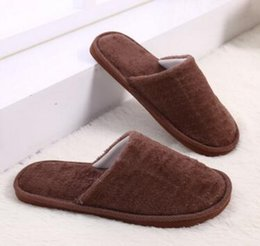 2ca96f2483c Cotton slippers men women lovers Non-slip indoor candy color Plush flat warm  Mute Home autumn and winter wood flooring eva slippers Cotton m