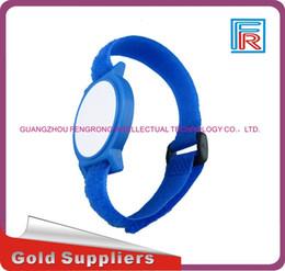 Wholesale Nfc 1k - NL1 13.56MHZ MF 1K S50 F08 NFC Tags ISO14443A Nylon proximity Wrist Band Card Bracelet 100pcs