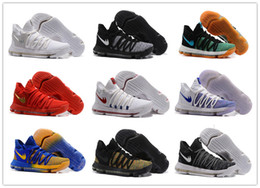 Wholesale Birds Cushions - 2017 New Arrival KD 10 X Oreo Bird of Para Basketball Shoes for High quality Kevin Durant 10s Bounce Airs Cushion Sports Sneakers Size 7-12