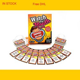 Wholesale Big Plastic Paper - Watch Ya' Mouth Family Edition The Authentic Hilarious Mouthguard Party Game Best Christmas Celebration 48pcs Free DHL