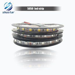 Wholesale Ribbon Strips - 5050 LED Strip 60leds m 5M 300leds IP20 Non-Waterproof Warm White White Red Blue Yellow Green RGB Ribbon for Home Decoration