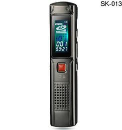 Canada En gros-Livraison gratuite 8 Go dictaphone enregistreur vocal numérique professionnel avec lecteur MP3 enregistreur audio enregistrement SK-013 cheap free digital mp3 player Offre
