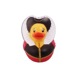 Wholesale Baby Bath Temperature Toy - Wholesale- Children's Beach Water Toy Baby Temperature Duck Toys Style Baby Bath Duckqueen Floating Rubber Ducks Bathroom Swimming Toys