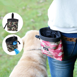 Wholesale Training Treat Bags - New Multifunction Camouflage Dog Treat Pouch For Training Walk The Dogs Pockets Pet Garbage Bag Outdoor Snack Bags IC749