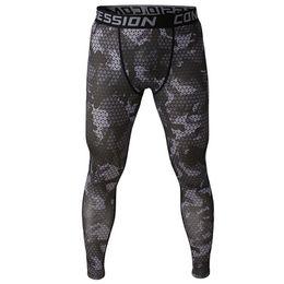 Wholesale Wholesale Compression Tights - Wholesale-2016 camouflage men pants fitness joggers compression tights long pants leggings mens wear jogginsg