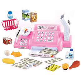 Wholesale Supermarket Cash Register Toy - Kids Toys Mini Supermarket Cash Register Shopping Cashier Play House Toys Educational Classic Pretend Play Toys VE0283