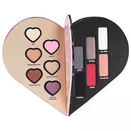 Wholesale Makeup Girl Cosmetic - 2017 To heart shape makeup palette eyeshadow long-lasting Face Pressed eyeshadow 6 Color cosmetics for girls VS KYLIE
