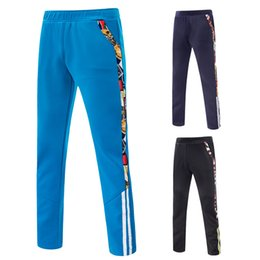 Wholesale Direct Hits - Wholesale- 2016 Direct Selling Clothing Men Jogger Knitted Space Cotton Hit Color Stripe Side Leisure Split Joint Men Long Pants