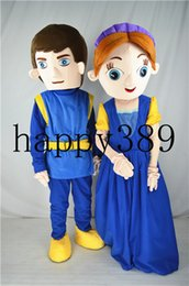 Wholesale Prince Mascot Costumes - 2017 mascot costume Romeo Juliet Princess prince mascot clothing direct support for private custom Halloween
