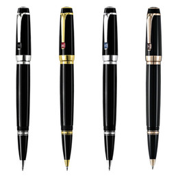 Wholesale Unique Fountain Pens - unique design black resin Roller ball pen   Fountain pen school office stationery luxury M nib Writing ink pens Gift M8