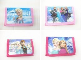 Wholesale Cheap Wallets Change Purses - Cute Cartoon Wallet Bay Kids Coin Purse Change Bags Elsa Anna Character Bags Wholesale Cheap Promotion Gift for Boys Girls