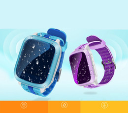 Wholesale Emergency Call - GPS Tracker Kids Children Child Smart Watch DS18 Q90 Waterproof For Kids SOS Emergency Anti-Lost GPRS GSM WiFi Wristwatches Remote Monitor
