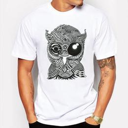 Wholesale Fitness Owl - Men's Clothing Summer Black animal Owl anime Cartoon T-shirt hip hop Couple fitness white Short Sleeve 3d T shirt Tees tshirt homme