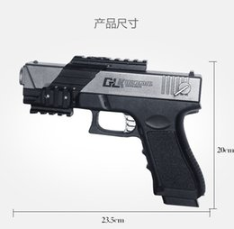 Wholesale Paintball Pistols - A6 Store 2017 G18 Electronic Toy Gun ABS Water Crystal Bullet Guns Pistol Carbine Gun Toys Children Best Gifts Free shipping
