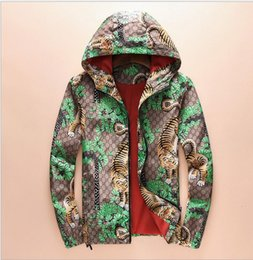 Wholesale Men Fashion Autumn Jacket - 2017 Fashion Casual Outdoor Tiger Jungle Jacket Autumn Summer Sunproof Windproof Waterproof Men Women Luxury Zipper Sports Skin Coat