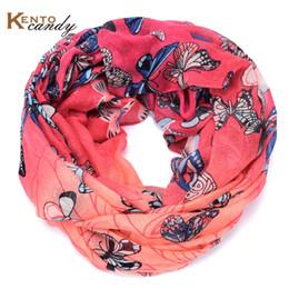 Wholesale Flower Infinity Scarf - Wholesale-butterfly infinity scarf women grey hijab brand flower foulard echarpe foulard femme fulares mujer sjaals designer vicose scarfs