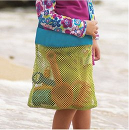 Wholesale Small Storage Compartments - Beach Mesh Bags Sand Away Collection Toy Bag Storage For Sea Shell Kids Children Tote Organizer Mommy's Helper Toy Storage Bag
