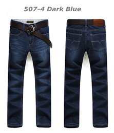 Wholesale New Jeans Classic - Wholesale-2016 New Arrival True Jeans Men Brand High Quality Denim Classic Regular Straight Cotton Jeans Free Shipping Size 28-46 507
