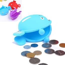 Wholesale Small Purses Keychain - Silicone Coin Purse Creative Silicone Purse Cartoon Coin Bag Keychain Small Fish Animal Silk Screen Coin Purse