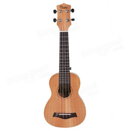 Wholesale African Mahogany - Wholesale-KaKa KUC-25 21 23 26'' solid African Mahogany Rosewood Fingerboard Wood Matte Ukulele 4 strings guitar Musical Instrument
