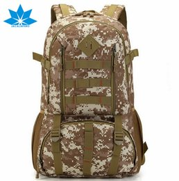 Wholesale Heavy Duty Polyester - Wholesale- Top Brand Waterproof 50L Mens Men Backpack Rucksack Heavy Duty Bag Camouflage Backpacks Travel Bags For Man Male