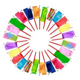 Wholesale Gymnastics Ribbon Stick - Rhythmic Gymnastics Gimnasia Ritmica RG Ribbon 4 Meters Child adult Props Dance Stick 5cm Width sports equipmemnt colors