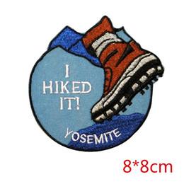 ropa de california Rebajas Parque nacional de Yosemite, california, senderismo, recuerdo, aplique de hierro, parche en el parche para chaqueta, jeans, parche de insignia
