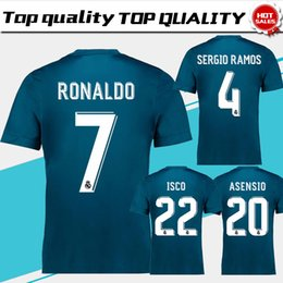 Wholesale Bale Real Madrid - Real Madrid third Soccer Jersey 17 18 Real Madrid 3rd soccer shirt 2018 Ronaldo Bale Football uniforms Asensio Isco Kroos MARCELO