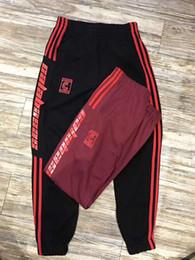 Wholesale Top Elastic Waist - 2017 SS Paccbet Season4 Style Jogger Top Cotton Pants Calabasas Pablo Sweatpants Kanye